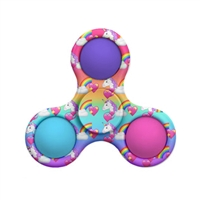 OMG! Mega Pop Fidgety Tri Spinner -Unicorn Rainbow