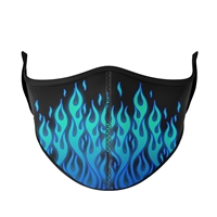 Blue Flame Face Mask