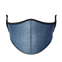 Denim Print Fashion Face Mask