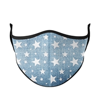 Denim Star Face Mask
