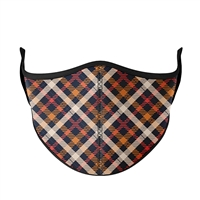 Thanksgiving Plaid Face Mask