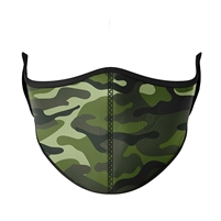 Reusable Green Camo Face Masks