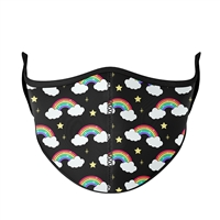 Black Rainbow Face Mask