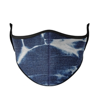 Denim Tie-Dye Face Mask