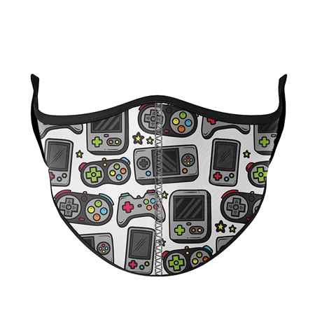 White GAMER Face Mask