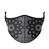 Black Bandana Fashion Face Mask