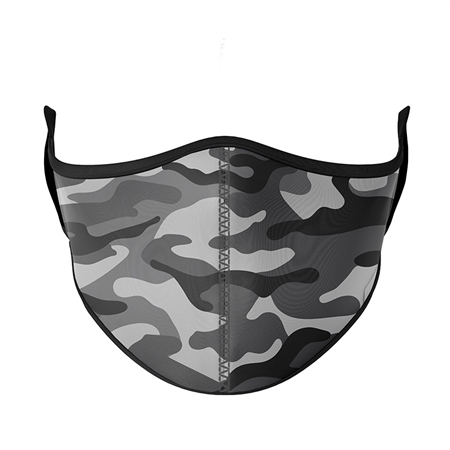 Reusable Black and White Camo Face Mask