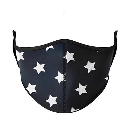 Black with White Star Face Mask