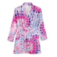 tie dye ice bathrobes