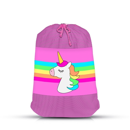 Unicorn stripe mesh SOCK Bag
