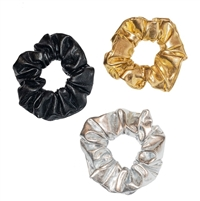 metallic scrunchies