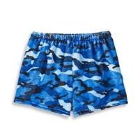 blue camoflauge Fuzzy Lounge Shorts