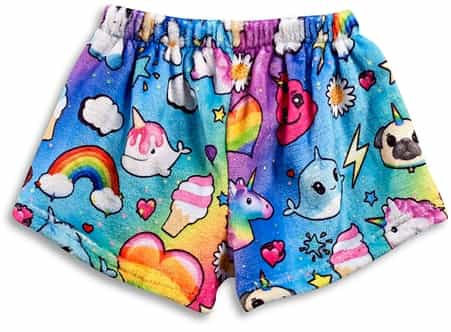 i dream of unicorn Fuzzy Lounge Shorts