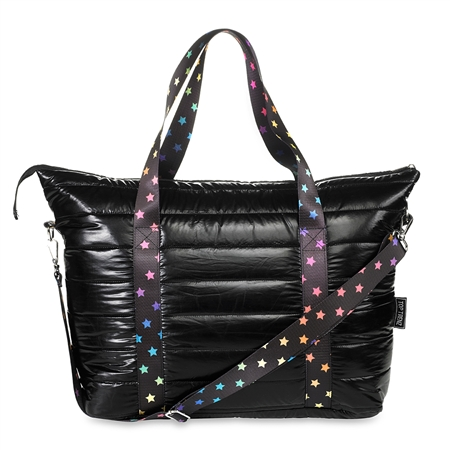 Metallic Puffer Tote weekender bag