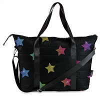 Multi Star Puffer Tote Weekender Bag