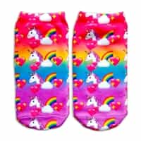 emojicon unicorn ankle socks