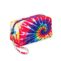 Tie Dye Spiral Puffer cosmetic bags