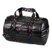 Metallic Puffer Duffle duffel bag