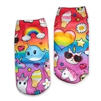 emojicon ankle socks i dream of unicorns