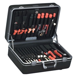 928T-CB DELUXE POLYETHYLENE TOOL CASE WITH CHROME HARDWARE