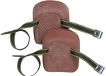 CLC317 MOLDED, NATURAL RUBBER KNEEPADS WITH WEB STRAPS