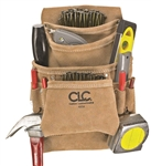 CLCI923X 10 POCKET SUEDE NAIL & TOOL BAG