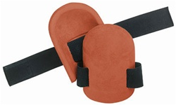CLCV310 MOLDED, NATURAL RUBBER KNEEPADS WITH ELASTIC STRAPS