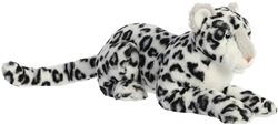 "Asha White Snow Leopard Luxe Boutique by Aurora 18"" L without tail"