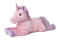 "Celestia Pink Unicorn Super Flopsie 28"" Long"