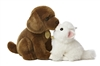 "Miyoni Chocolate Lab & Angora Kitten 8""L"
