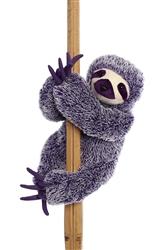 "Sloth Purple Destination Station by Aurora World 11"" High Sitting"