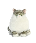 "Dumpling Grey Tabby Fat Cat by Aurora 9"" H"