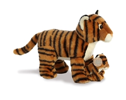 "Bengal Tiger Mom and Baby Destination Nation 11"" L"