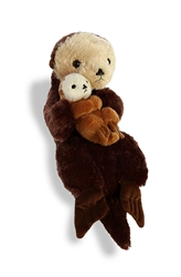 "Sea Otter Mom and Baby Destination Nation 16"" L"