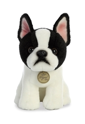 "Boston Terrier Pup Miyoni Tots Collection  by Aurora 9"" High"