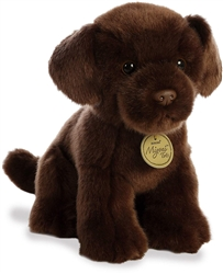 "Chocolate Lab Pup Miyoni Tots Collection  by Aurora 8"" High"
