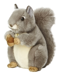"Auora Grey Squirrel Miyoni Collection 8"" H"