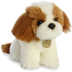 "Shih Tzu Pup Miyoni Tots Collection  by Aurora 9"" High"