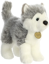 "Siberian Husky Standing Miyoni Collection  by Aurora 9"" High"