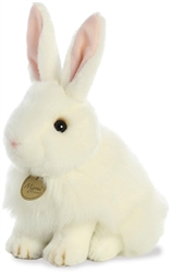 "White Angora Bunny Rabbit Miyoni 10"" High"