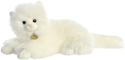 "White Persian Cat  Miyoni Collection by Aurora 14"" Long"