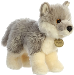 "Wolf Pup Miyoni Tots Collection  by Aurora 10"" long"