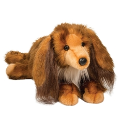 "Kenzie Long Hair Dachshund by Douglas 18"" Long"