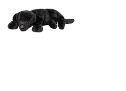 "Licorice Black Lab Floppy Pup 13"" L"