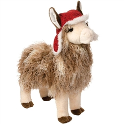"Lance Llama with Bomber Hat 15"" H"