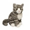 "Nickel the Grey Stripe Cat 9""H"