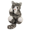 "Rebecca Gray Stripe Cat Handful 8"" long without tail"