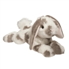 "Ramsey Dlux Grey Spotted Floppy Bunny by Douglas 18"" Long"