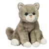"Rita Gray Cat by Douglas 9"" High Sitting"