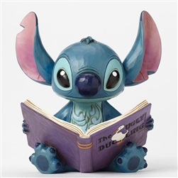 "Jim Shore Enesco Disney Traditions Stitch Finding a Family 5.75"" High"